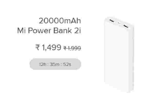 Discounts on Power banks and accessories