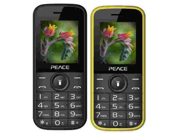 Peace P3 COMBO OF TWO MOBILE (Black & Yellow) Black @snapdeal