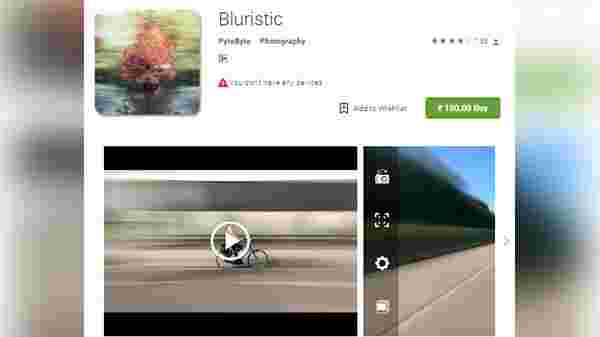 Bluristic- Deliver motion look in still shots