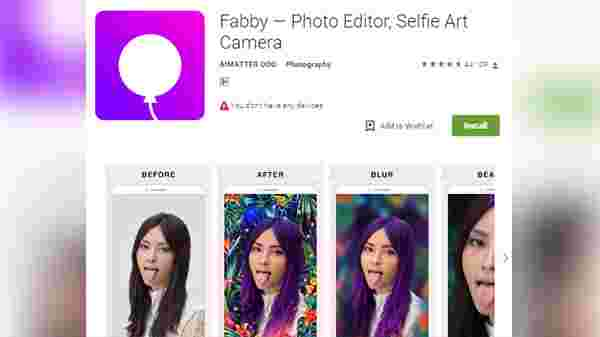 Fabby- To Deliver Blur effect:
