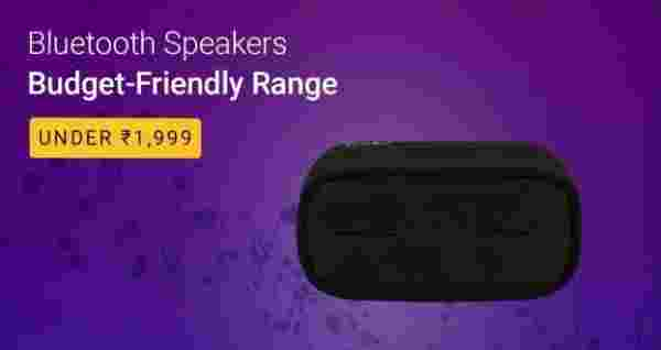 Bluetooth speakers under Rs. 1,999