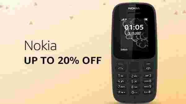 Upto 20% off on Nokia Phones