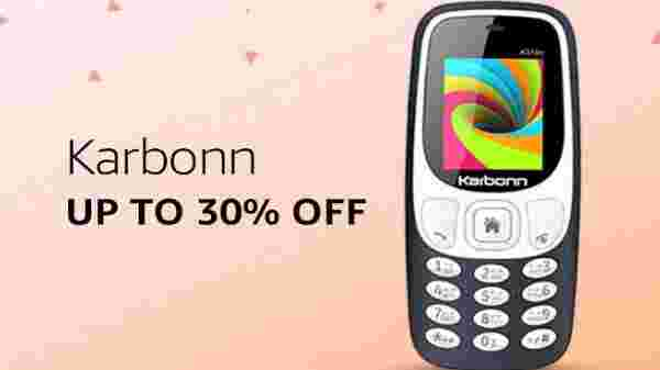 Karbonn phones at up to 30% discount