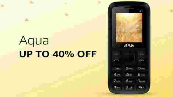 Aqua phones at up to 40% off
