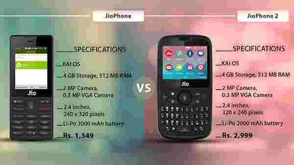 9810d424102 JioPhone Vs JioPhone 2: Double the money, same features - Gizbot News