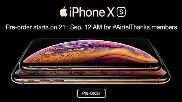 Pre-order offers for iPhone XS, and XS Max in India