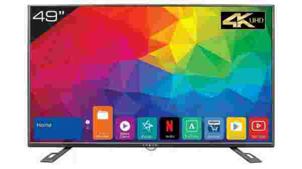 40% off on Kevin 124.5 cm (49 inches) 4K Ultra HD Smart LED TV KN49UHD (Black) (2018 Model)