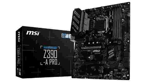 MSI Z390-A PRO LGA1151 (Intel 8th 9th Gen) M.2 USB 3.1 Gen 2 DDR4 HDMI DP CFX Dual Gigabit LAN ATX Z390 Gaming Motherboard