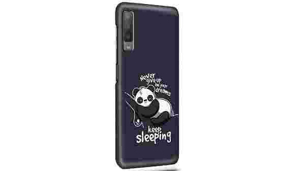 NAYKODI Cute Panda Printed Designer Slim Light Weight Back Cover Case for Samsung A7 (2018)