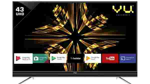 40% off on Vu Official Android 109cm (43 inch) Ultra HD (4K)