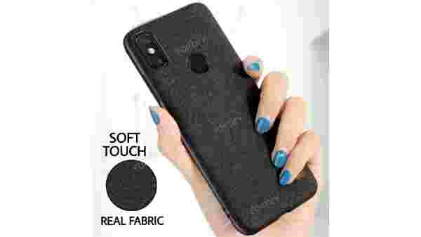 Fortify Premium Soft Fabric Hybrid Protective Back Cover Case for Xiaomi Redmi Note 6 Pro