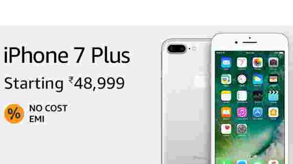 15% off on Apple iPhone 7 Plus (EMI starts at Rs 2,518. No Cost EMI available)