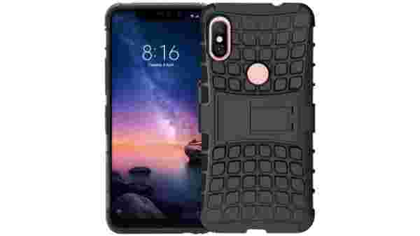 Jkobi Protective Rugged Hybrid Dual Armor Kick Stand Back Case Cover For Xiaomi Redmi Note 6 Pro