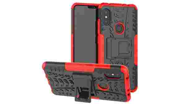 Johra Dual Layer Armor Kick Stand Shockproof Defender Hard Cover Case for Xiaomi Mi Redmi Note 6 Pro