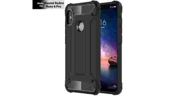 TheGiftKart Special Edition Neo-Hybrid Dual Layer Armor Back Case Cover for Xiaomi Redmi Note 6 Pro