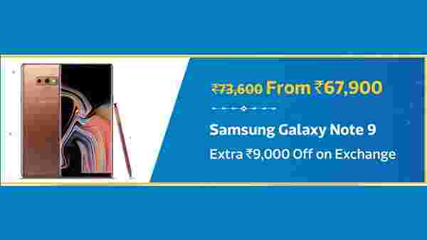 Samsung Galaxy Note 9 with maximum Rs 8,100 discount