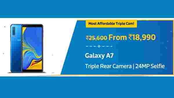Samsung Galaxy A7 with a discount of Rs 5,100