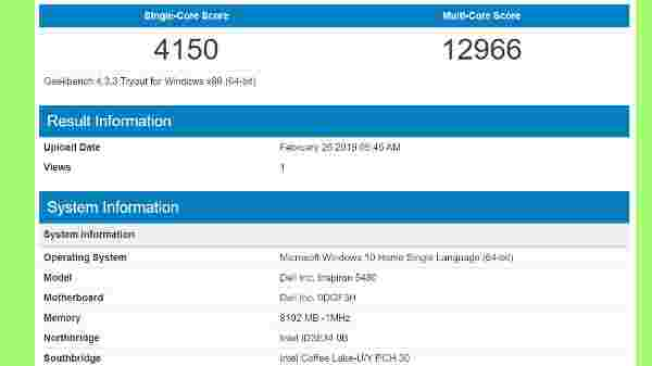 GeekBench CPU