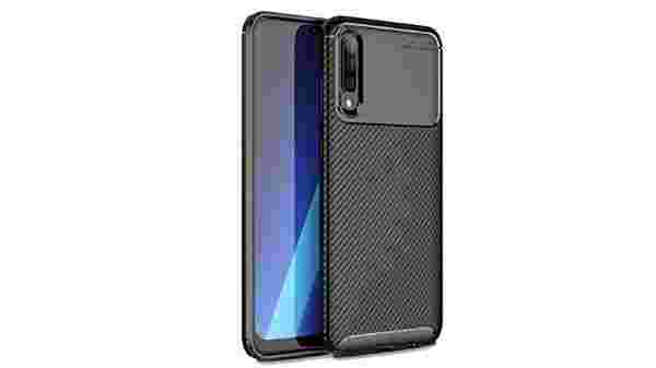 VALUEACTIVE Accessories For All Shockproof Armor Carbon Fibre Textured TPU Back Cover for Samsung Galaxy A50