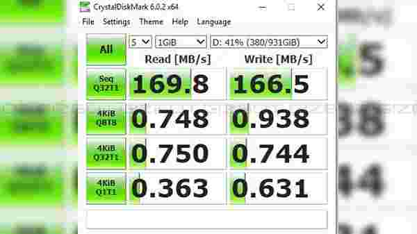HDD speed test