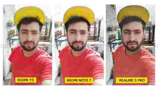 Selfies comparison- Redmi Y3 vs Redmi Note 7 Pro (Note 7) vs Realme 3 Pro
