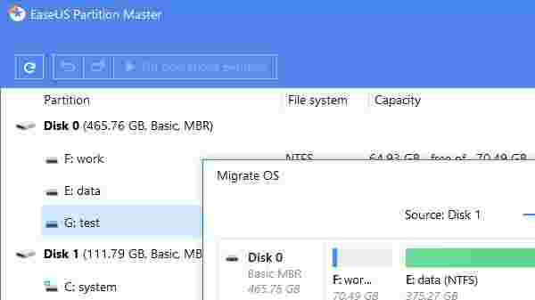 Using EaseUS partition tool