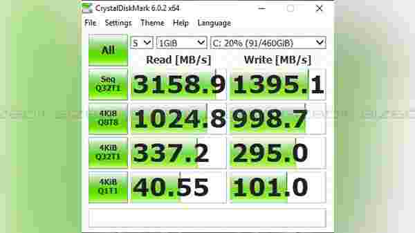 SSD speed test