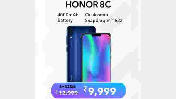 23% off on Honor 8C
