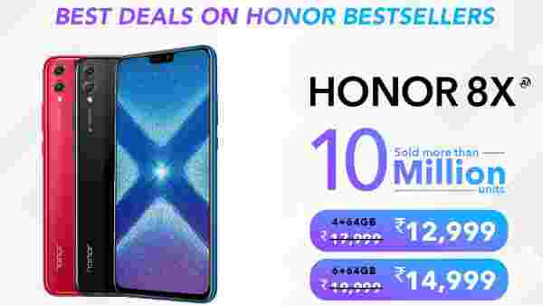 Honor 8X (MRP: Rs 17,999, After Discounts: Rs 12,999)