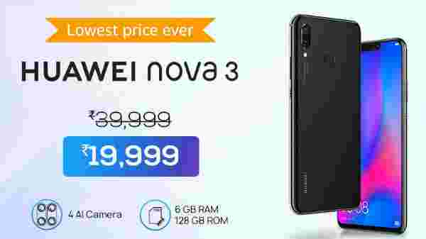 50% off on Huawei Nova 3