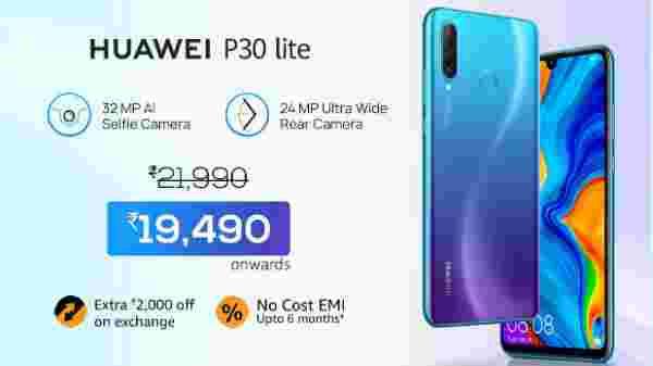 9% off on Huawei P30 Lite