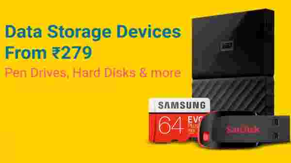 Data Storage Devices from Rs 279