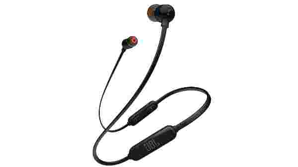 JBL Tune 110BT Pure Bass Wireless in-Ear Headphones with Mic (Grey)(6Hours battery Backup)