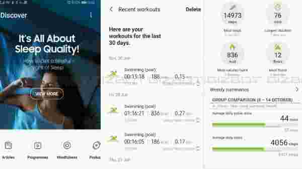 Samsung Health For Detailed Health Statistics