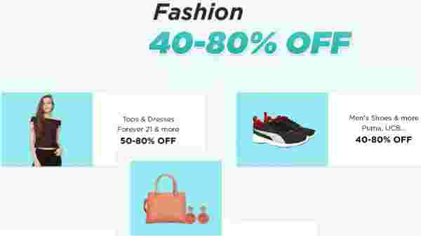Upto 40% to 80% off on Fashion