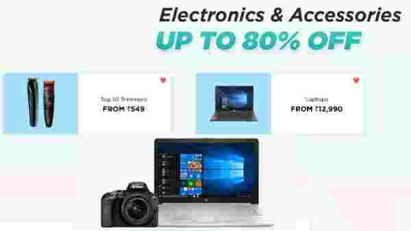 Upto 80% off on Electronics and Accessories