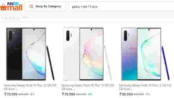 Samsung Galaxy Note 10 And Galaxy Note 10 Plus Pre-Order Started On Paytm