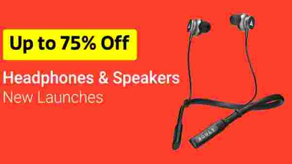 Up to 75% Off On Headphones & Speakers