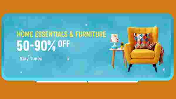 50% To 90% Off On Home Essentials And Furniture