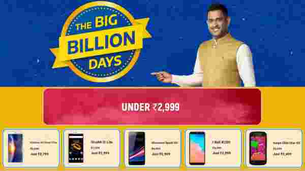 Flipkart Big Billion Days Sale On Smartphones Under Rs 2,999