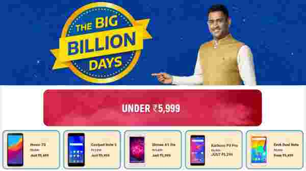 Flipkart Big Billion Days Sale: Offers Smartphones Under Rs 5,999