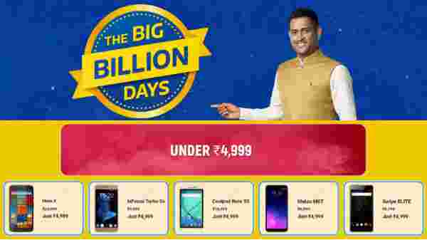 Flipkart Big Billion Days Sale Offers On Budget Smartphones