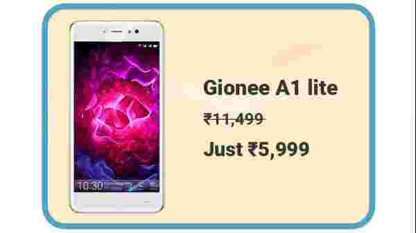 Gionee A1 Lite At Rs. 5,999