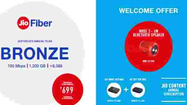 Jio Fiber Bronze Plan – Annual Subscription