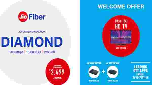 Jio Fiber Diamond Plan – Annual Subscription