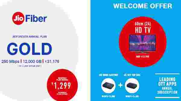 Jio Fiber Gold Plan – Annual Subscription