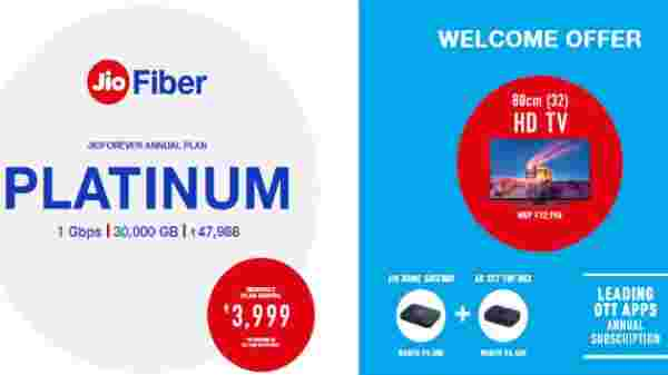 Jio Fiber Platinum Plan – Annual Subscription