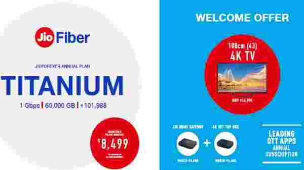 Jio Fiber Titanium Plan – Annual Subscription