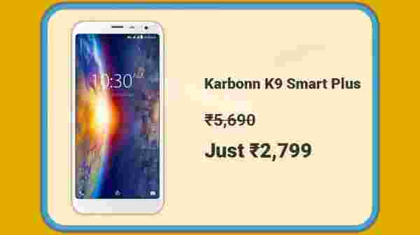 Karbonn K9 Smart Plus At Rs. 2,799