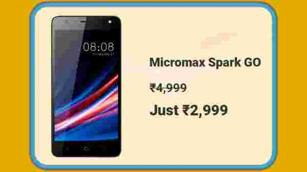 Micromax Spark Go At Rs. 2,999